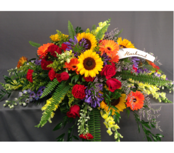Autumn Splendor Casket Spray in Bowmanville ON, Van Belle Floral Shoppes