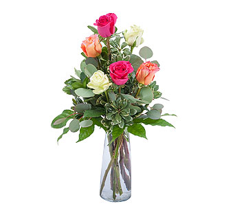 Six Roses in Oshkosh WI, Flowers & Leaves LLC