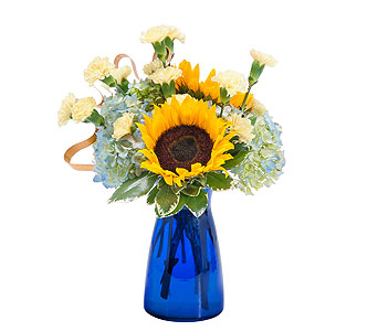 Good Morning Sunshine in Mount Morris MI, June's Floral Company & Fruit Bouquets