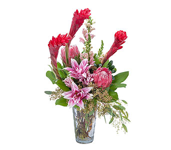 Exotic Beauty in Mount Morris MI, June's Floral Company & Fruit Bouquets