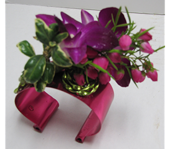 Purple Orchid Corsage in Traverse City MI, Teboe Florist