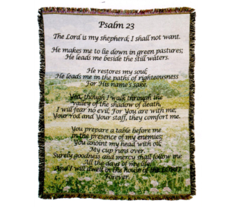 Psalm 23 Afghan in Stephens City VA, The Flower Center