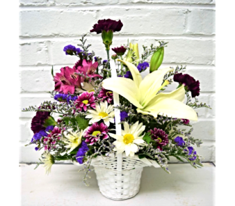 Lavender May Basket in Springfield MO, House of Flowers Inc.