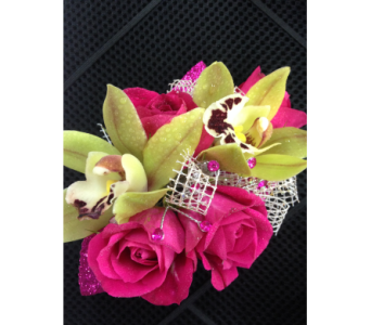 Rose and orchid premium wrist corsage in Gainesville FL, Floral Expressions Florist