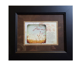 Framed Sympathy Gift - In Memory of Those We Love in Hendersonville TN, Brown's Florist