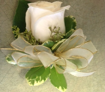 Cream Rose Corsage in Markham ON, Metro Florist Inc.