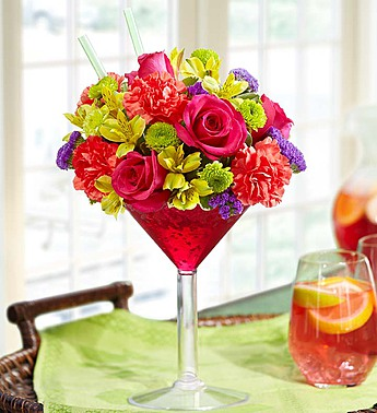 MIXED DRINK BOUQUET in Bloomington IL, Beck's Family Florist