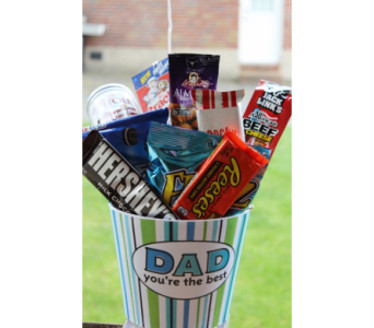 Snack Bucket for Dad in Winchester VA, Flowers By Snellings