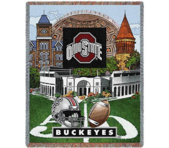 OSU Logo Stadium Throw in Columbus OH, OSUFLOWERS .COM