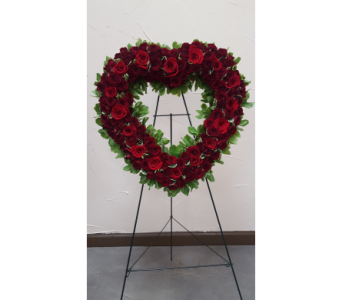 Rose Heart Remembrance in Frisco TX, Patti Ann's Flowers