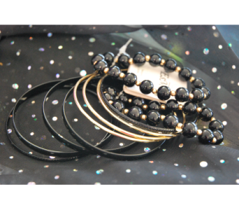 Black and Gold Bangles in Manhattan KS, Westloop Floral