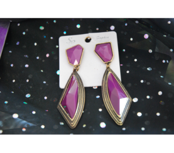 Modern Purple Earrings in Manhattan KS, Westloop Floral