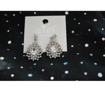 Bursting Rhinestone Earrings  in Manhattan KS, Westloop Floral