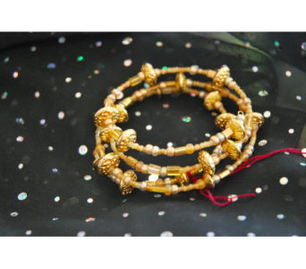 Gold Beaded Bangles in Manhattan KS, Westloop Floral