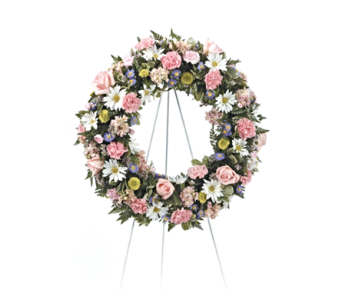 Pastel Wreath in Herndon VA, Herndon Florist, Inc