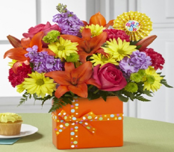 Set to Celebrate Birthday Bouquet in Fond Du Lac WI, Haentze Floral Co