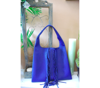 Blue Fringe Handbag in Manhattan KS, Westloop Floral