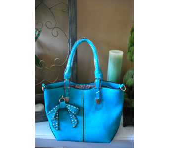Teal Bow Handbag in Manhattan KS, Westloop Floral