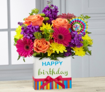 Birthday Brights Bouquet in Fond Du Lac WI, Haentze Floral Co
