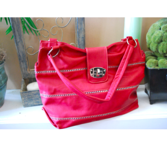 Modern Red Handbag in Manhattan KS, Westloop Floral