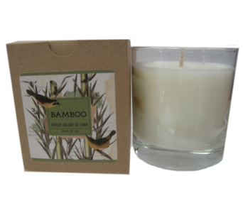Creative Co-Op� Flair Candle - Bamboo in Moorhead MN, Country Greenery