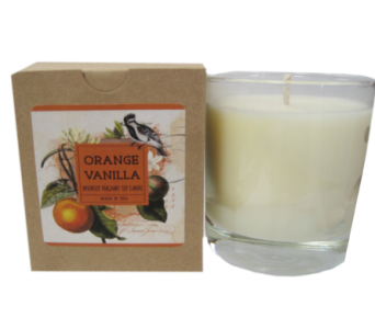 Creative Co-Op� Flair Candle - Orange Vanilla in Moorhead MN, Country Greenery