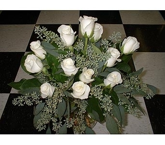 Dozen White Roses in Dallas TX, Z's Florist