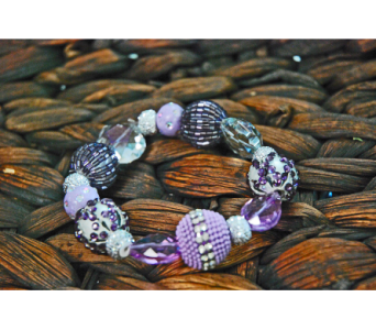 Purple Beaded Bracelet  in Manhattan KS, Westloop Floral