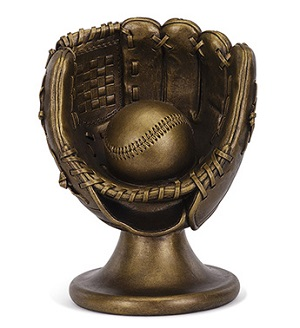 Bronze Baseball Glove And Ball in Martinsville IN, Flowers By Dewey