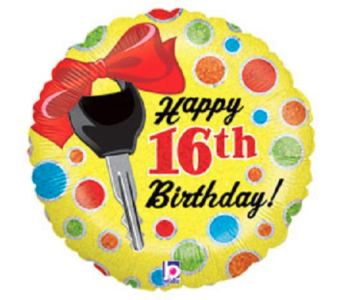 Happy 16th-Key in Jacksonville FL, Hagan Florist & Gifts