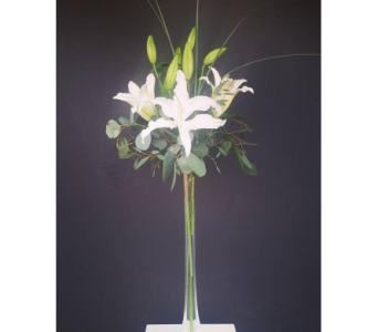 Tall Centerpiece - Oriental Lilies in Nashville TN, The Bellevue Florist
