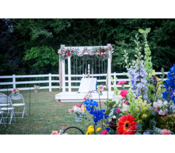 Outdoor Garden Wedding in Nashville TN, The Bellevue Florist
