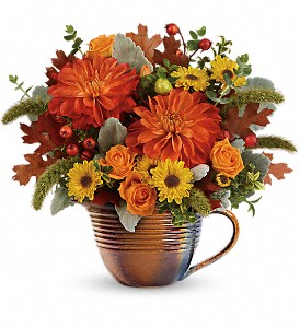Teleflora's Autumn Sunrise Bouquet in Morgantown PA, The Greenery Of Morgantown