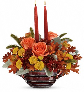 Teleflora's Celebrate Fall Centerpiece in Springfield IL, Fifth Street Flower Shop
