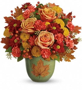Teleflora's Heart Of Fall Bouquet in Chicago IL, Wall's Flower Shop, Inc.