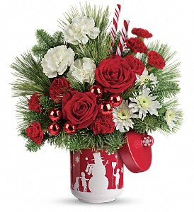 Teleflora's Snow Day Bouquet in Depew NY, Elaine's Flower Shoppe