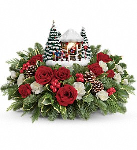 Thomas Kinkade's Jolly Santa Bouquet in Boston MA, Exotic Flowers