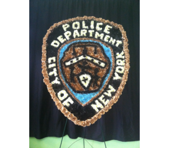 NYPD Badge in Astoria NY, Quinn Florist