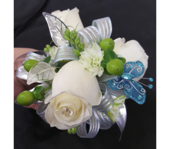 Butterfly Dreams Corsage in Newburgh NY, Foti Flowers at Yuess Gardens