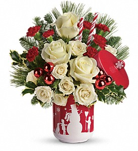 Teleflora's Falling Snow Bouquet in Grass Lake MI, Designs By Judy