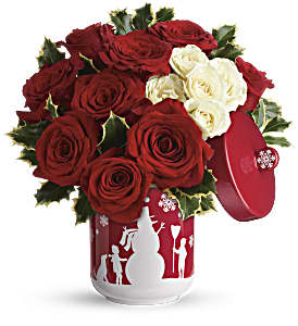 Teleflora's Roses And Holly Bouquet in Mobile AL, Cleveland the Florist
