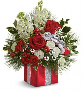 Teleflora's Wrapped In Joy Bouquet in Sylmar CA, Saint Germain Flowers Inc.