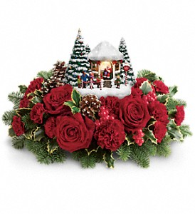 Thomas Kinkade's Visiting Santa Bouquet in Cincinnati OH, Peter Gregory Florist