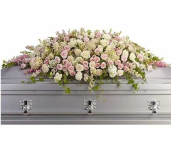 Sweet Remembrance Casket Spray in Bellevue WA, CITY FLOWERS, INC.