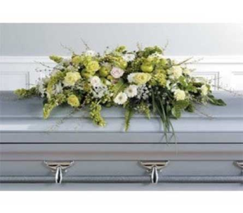 Restful Slumber Casket cover in Bellevue WA, CITY FLOWERS, INC.