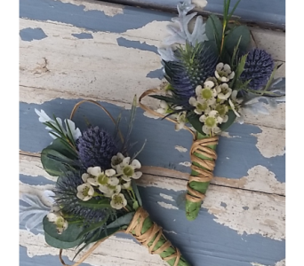 Garden, Thistle, and Rose Boutonniere in Nashville TN, The Bellevue Florist