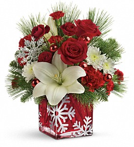 Teleflora's Snowflake Wonder Bouquet in Quincy MA, Quint's House Of Flowers