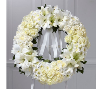 Never Ending Love Wreath in Bellevue WA, CITY FLOWERS, INC.