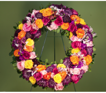 Caring Thoughts Wreath in Merrick NY, Feldis Florists