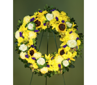 Warmest Condolences Wreath in Merrick NY, Feldis Florists